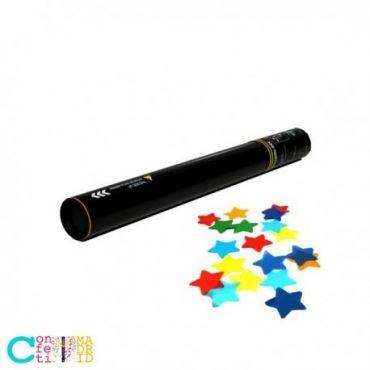 Cañón de Confeti Brillo Metálico Estrellas