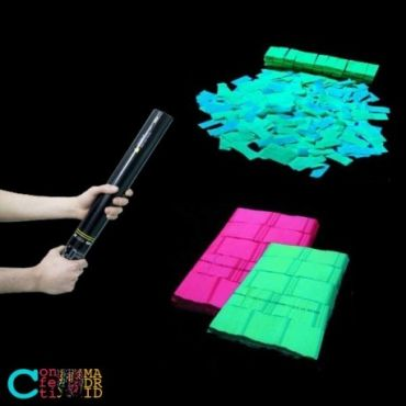 Cañón de Confeti Fluorescente Rectangular
